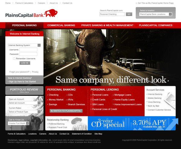 PlainsCapital Bank :: Website