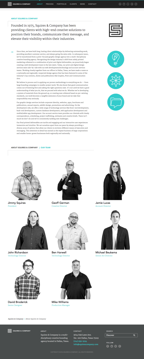 Squires & Company :: Website