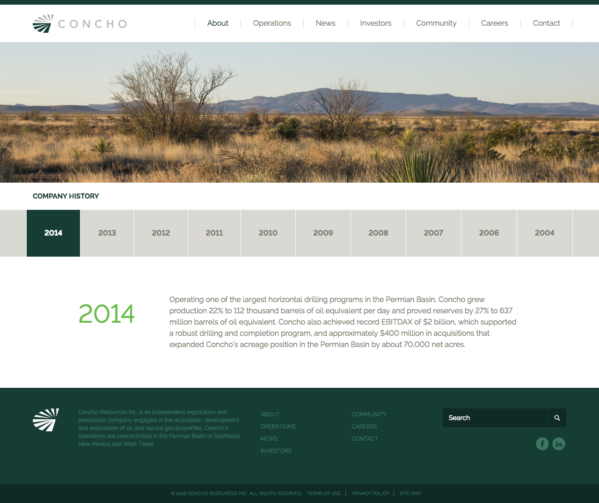 Concho Resources, Inc. :: Website