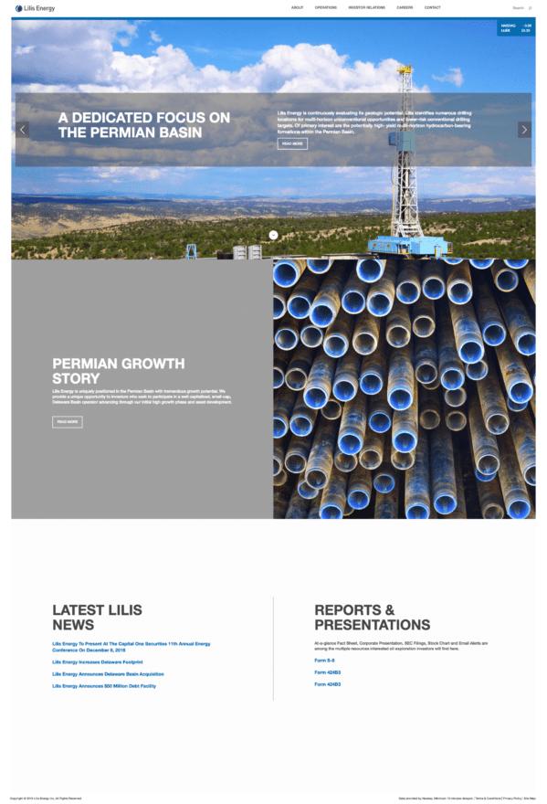 Lilis Energy :: Website